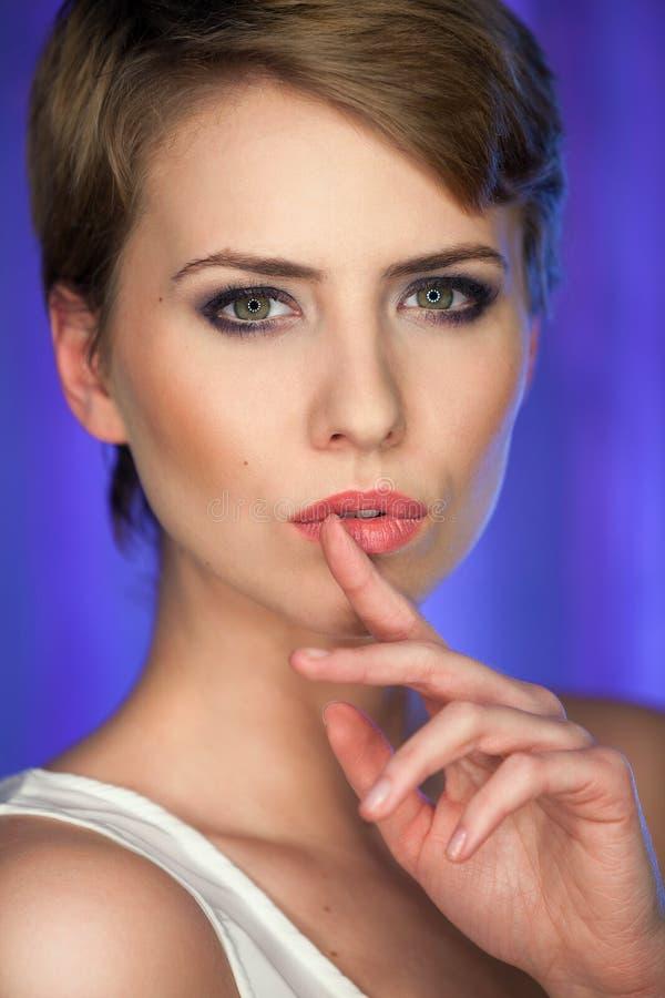 Portret piękna kobieta. fotografia stock