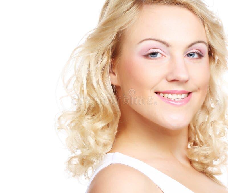 Portret piękna młoda dziewczyna z czystą skórą zdjęcie stock