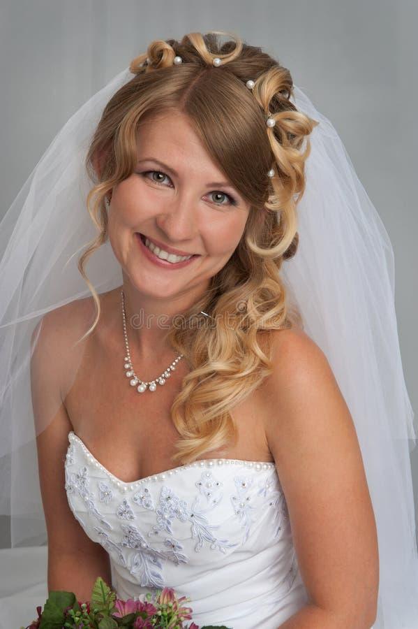 Portret piękna panna młoda zdjęcie stock