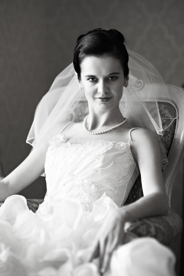 Download Portret piękna panna młoda obraz stock. Obraz złożonej z brunetka - 28965529