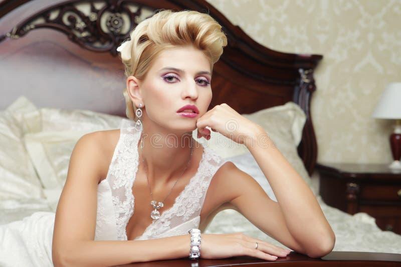 Portret piękna panna młoda zdjęcie royalty free