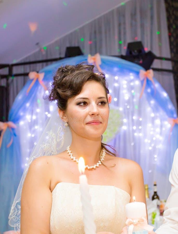 Portret piękna panna młoda przy ślubem obrazy stock