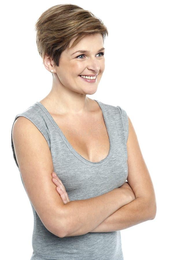 Portret pięknej kobiety wzorcowy target781_0_ daleko od zdjęcie stock