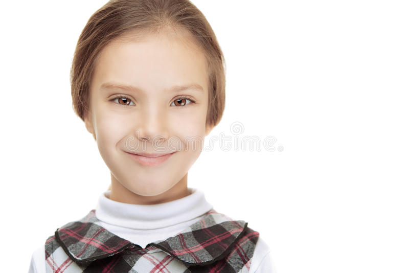 Portret piękni uśmiechnięci potomstwa obrazy stock