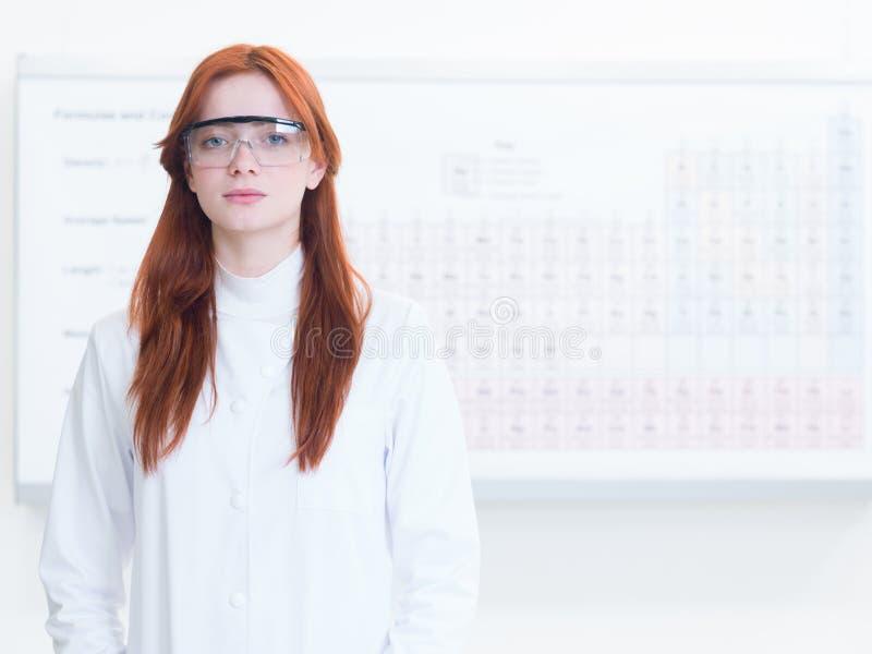 Portret piękny żeński naukowiec zdjęcia royalty free