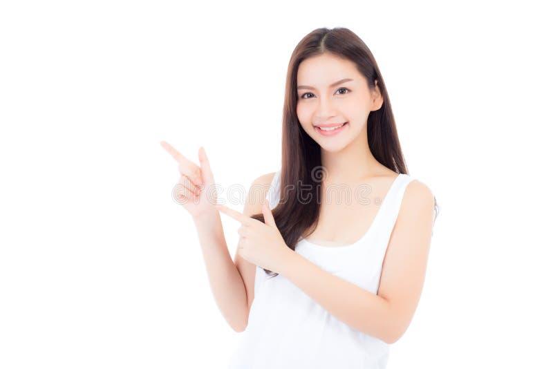 Portret piękny azjatykci kobiety makeup kosmetyk fotografia stock