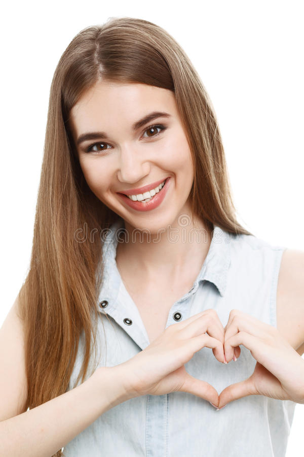 Portret piękny emocjonalny dziewczyny pozować zdjęcia royalty free