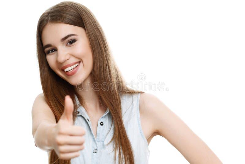Portret piękny emocjonalny dziewczyny pozować zdjęcie stock