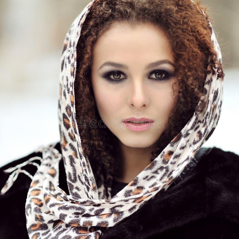 Portret piękny kobiety zakończenie up fotografia royalty free