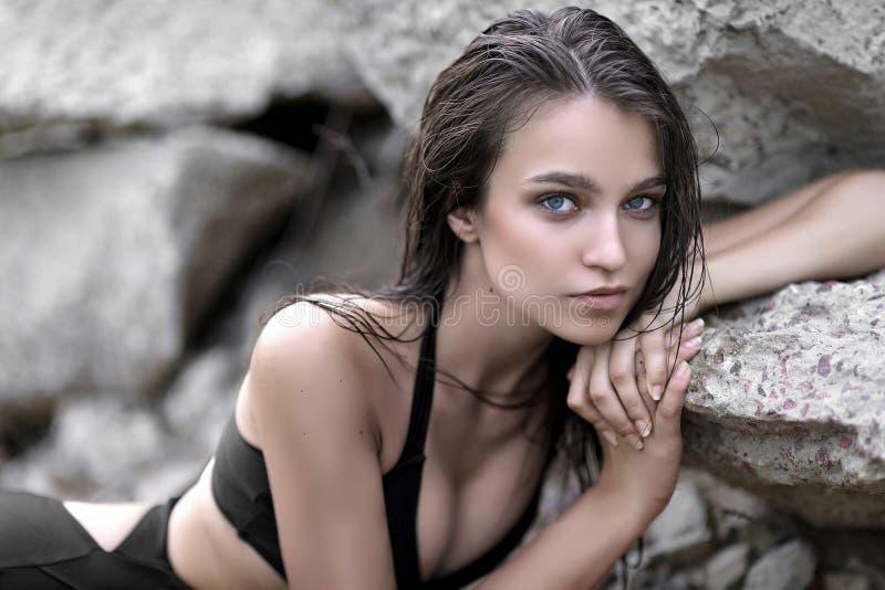 Portret piękny potomstwo model fotografia royalty free