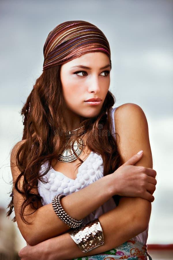 portret plenerowa kobieta zdjęcie royalty free