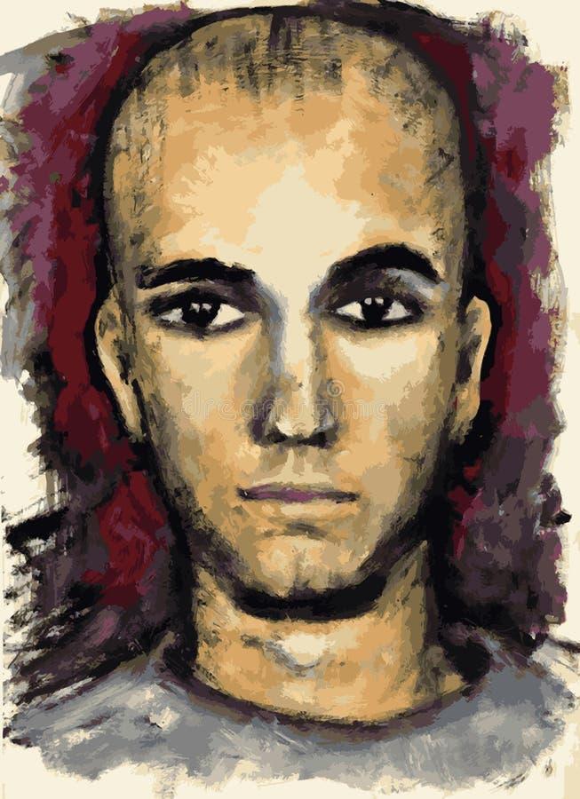 Portret poważna chłopiec ilustracji
