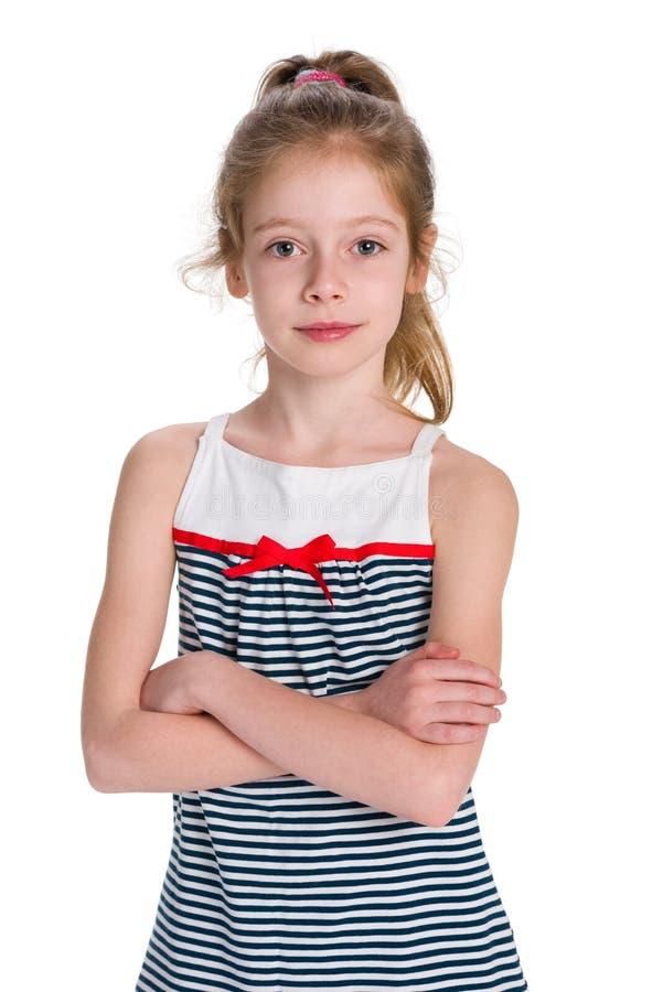 Portret poważna młoda dziewczyna obraz stock