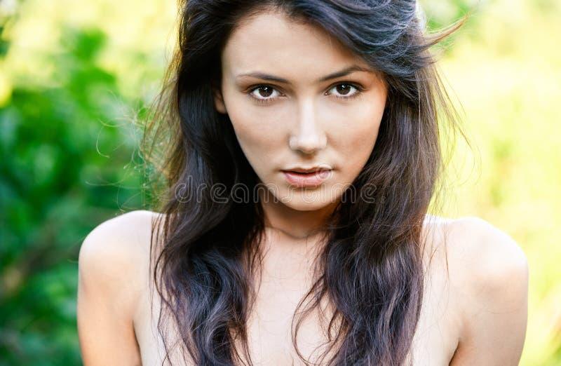portret powabna kobieta zdjęcie stock