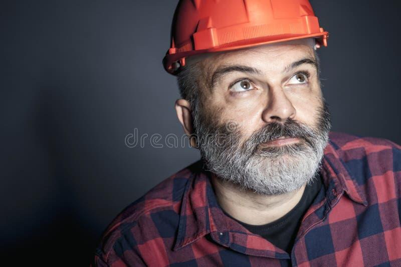Portret pracownik obraz stock