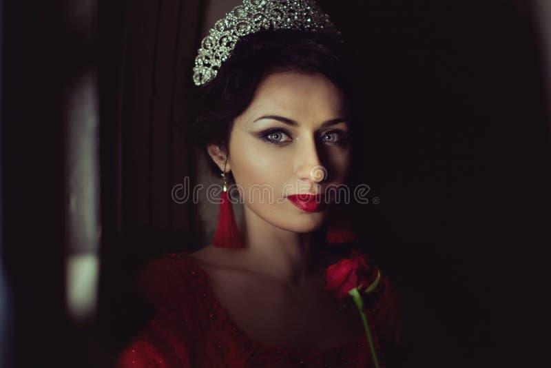 Portret princess w górę zdjęcia stock