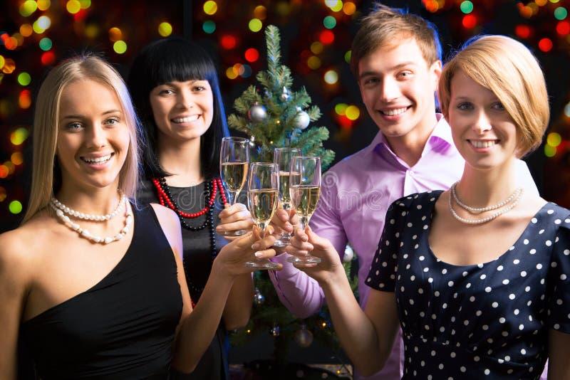 Portret przyjaciele target223_1_ Nowego Roku zdjęcia royalty free