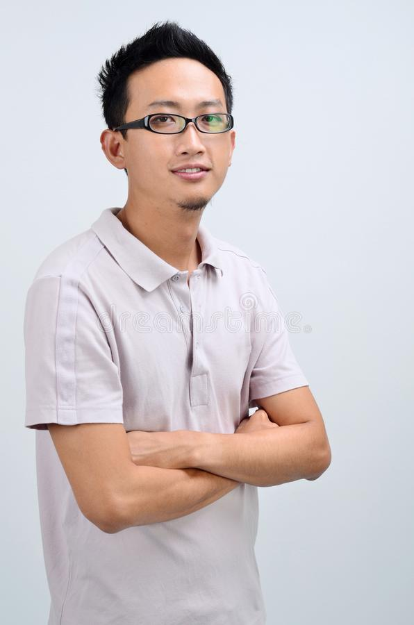Portret przypadkowy Azjatycki mężczyzna zdjęcie royalty free