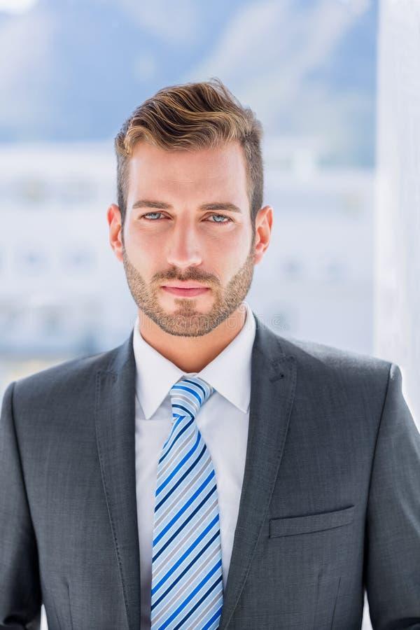 Portret przystojny młody biznesmen zdjęcia stock