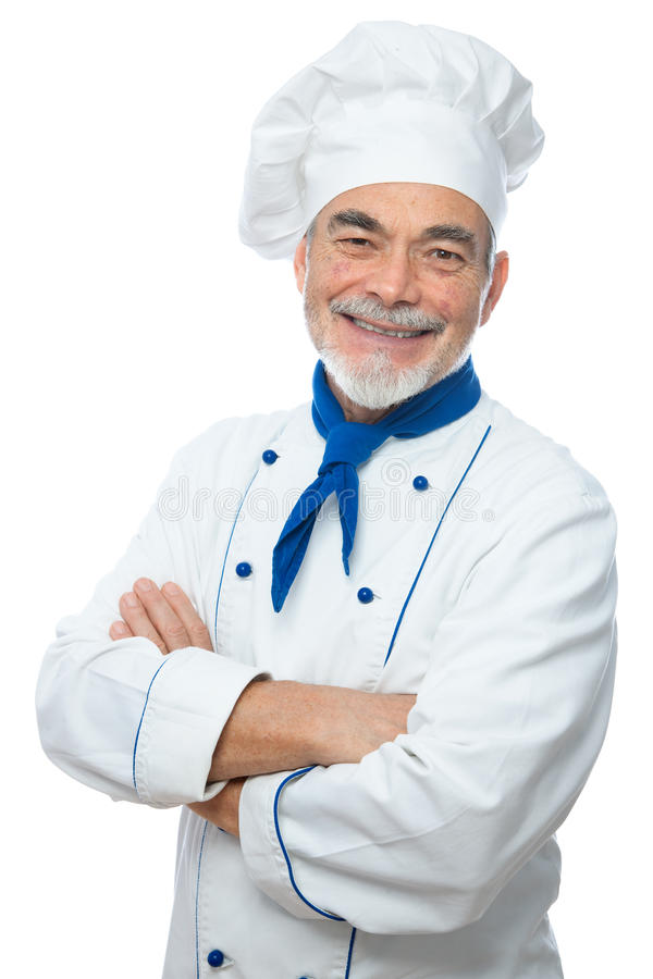 Portret przystojny szef kuchni zdjęcie stock