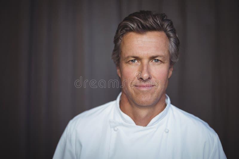 Portret przystojny szef kuchni zdjęcia royalty free