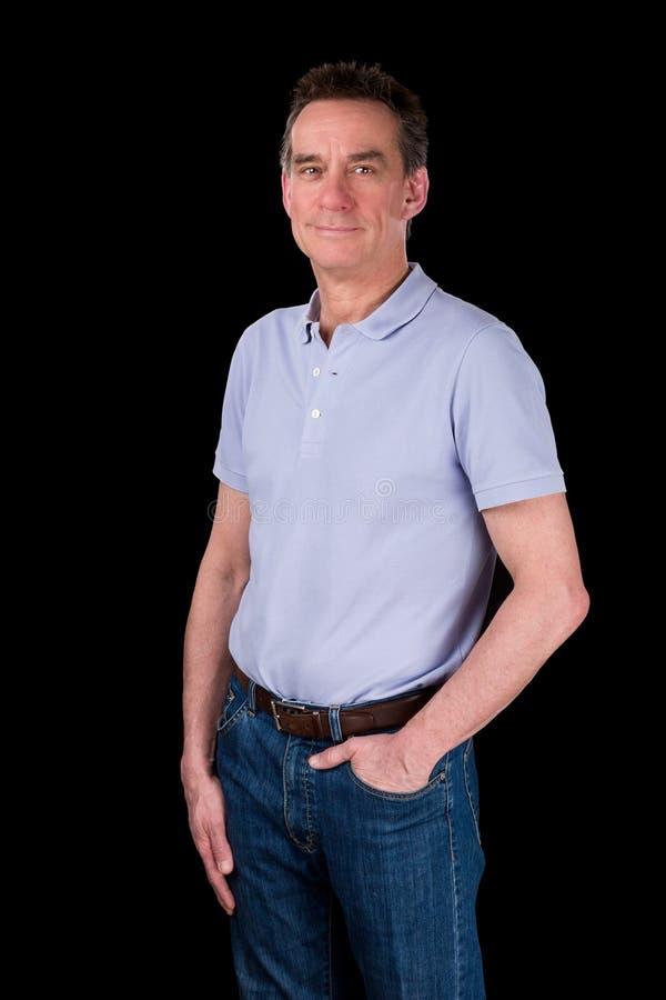 Portret Przystojny Uśmiechnięty Szczęśliwy mężczyzna zdjęcia stock