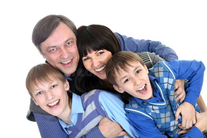 Portret radosna rodzina zdjęcie royalty free