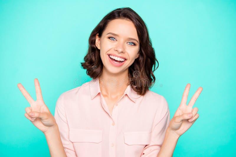 Portret radosny komicznie emocjonalny śliczny piękny powabny g fotografia royalty free