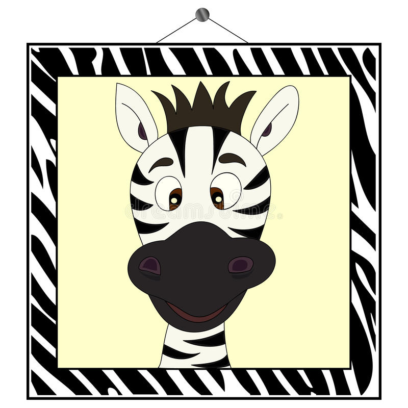 portret ramowa zebra ilustracja wektor