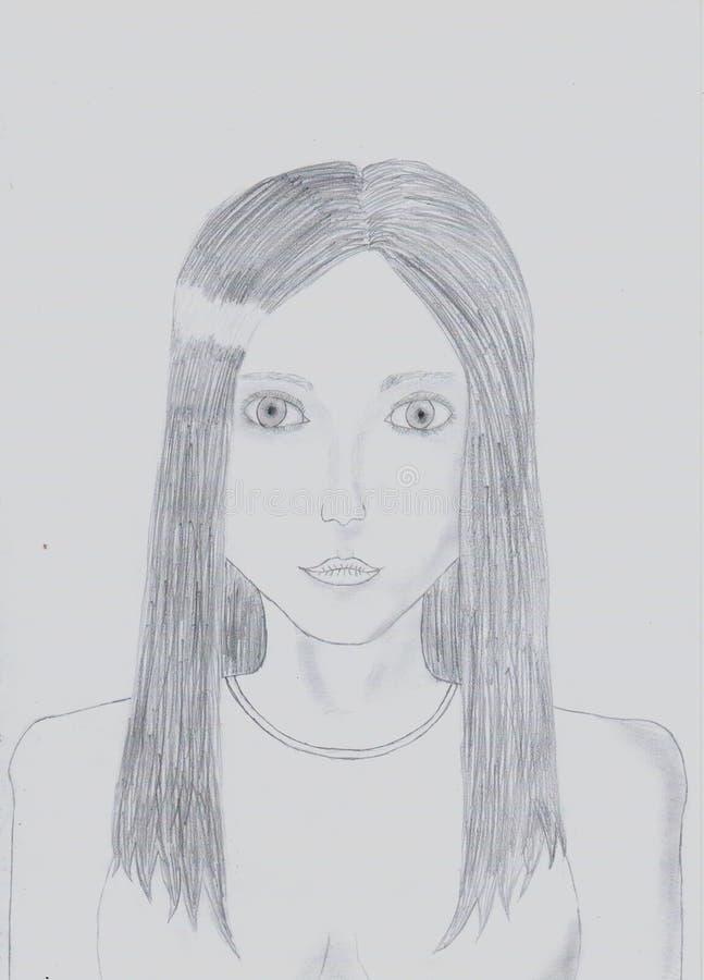 Portret robić ołówkiem zdjęcia royalty free