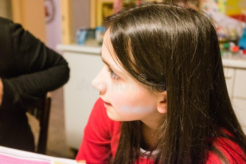 Portret 10 roczniaka dziewczyna obraz royalty free