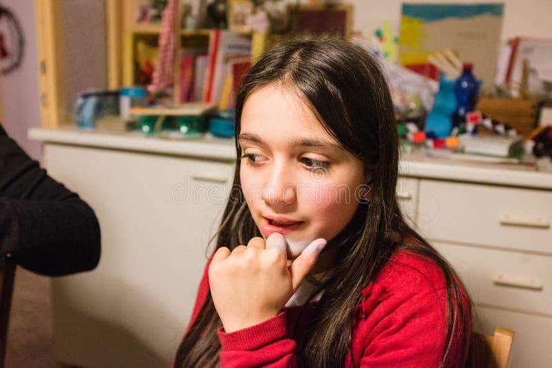 Portret 10 roczniaka dziewczyna obraz stock