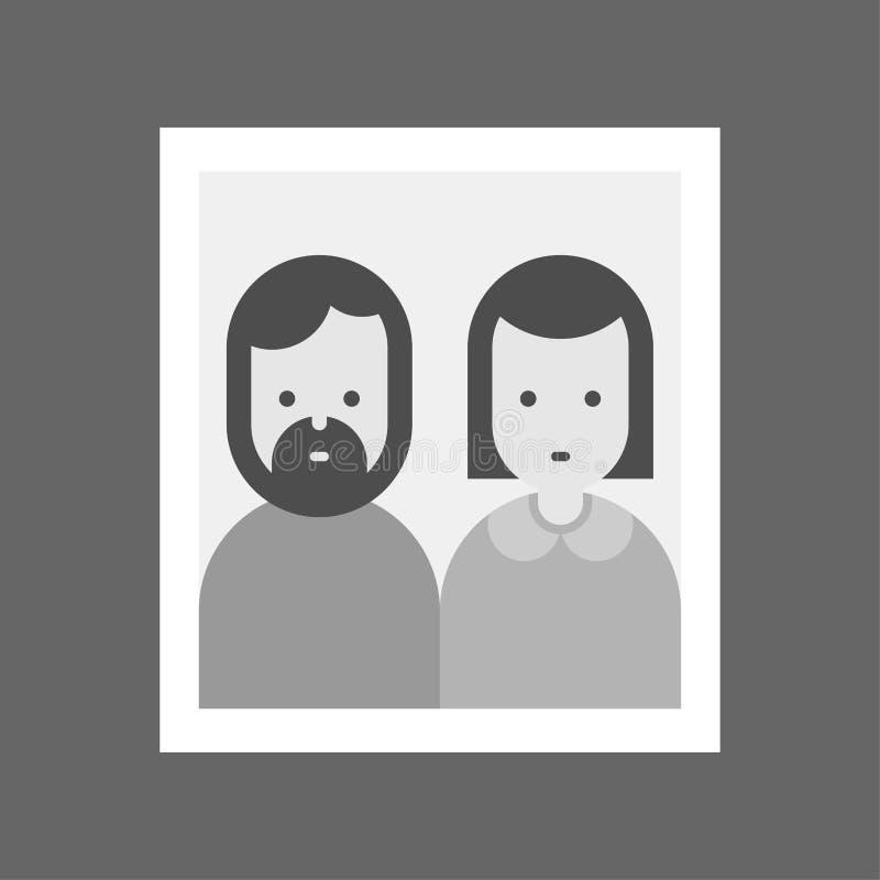 Portret rodzice w ramie Mama i tata Rodzinna fotografia wektor ilustracja wektor