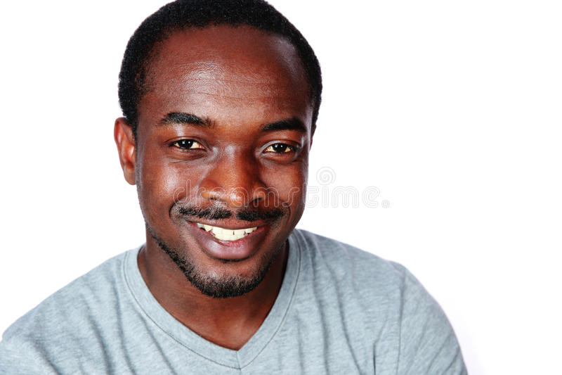 Portret rozochocony afrykański mężczyzna zdjęcia royalty free