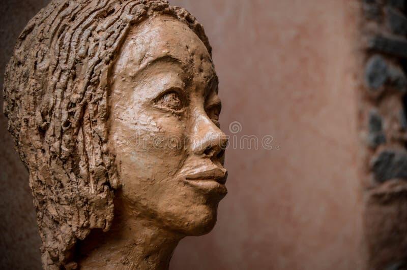 Portret rzeźby kobieta zdjęcia stock