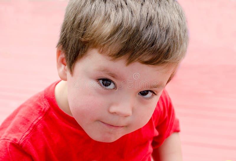 Portret słodka młoda chłopiec zdjęcia stock