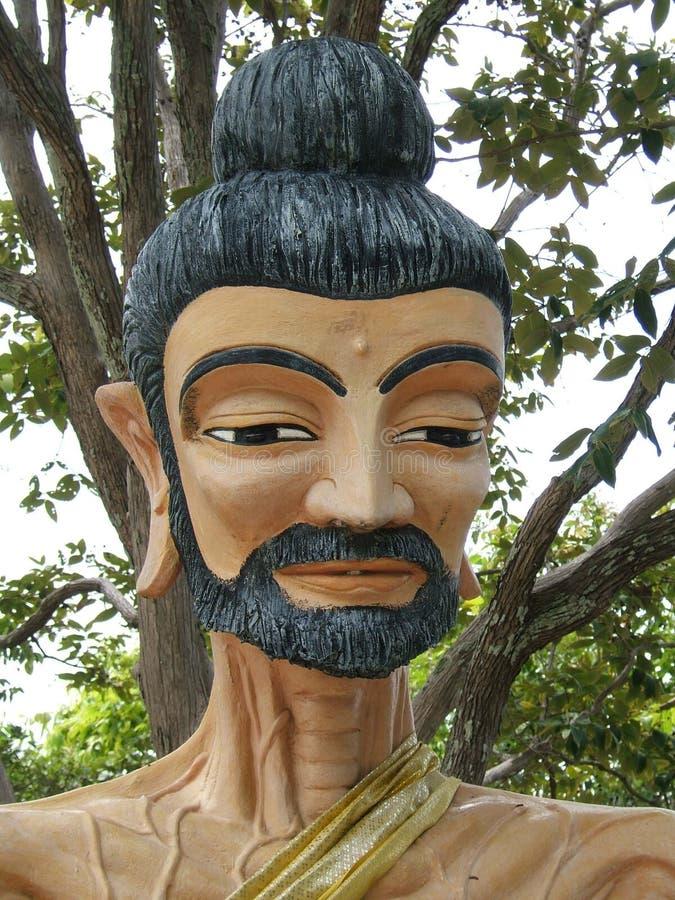 portret sculpted mnichu obraz stock