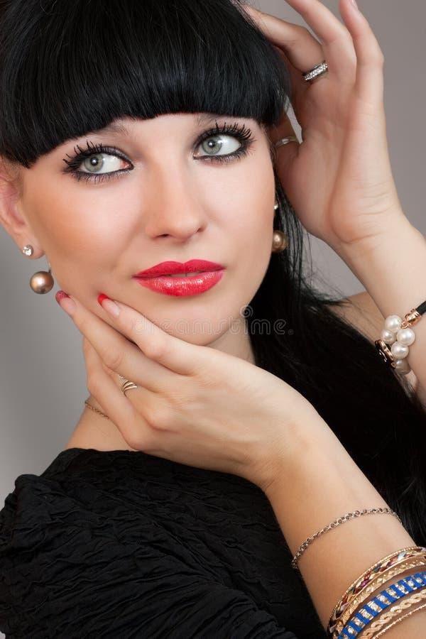 portret seksowna brunetka obraz royalty free