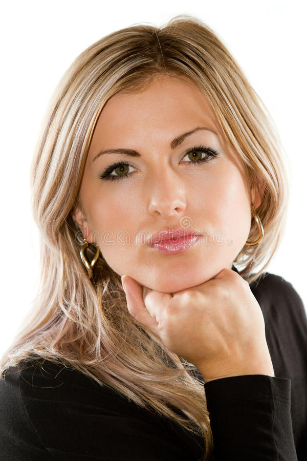 Portret seksowna rosyjska blond kobieta fotografia stock