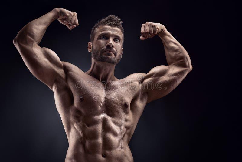 Portret silny Sportowy sprawność fizyczna mężczyzna obrazy royalty free