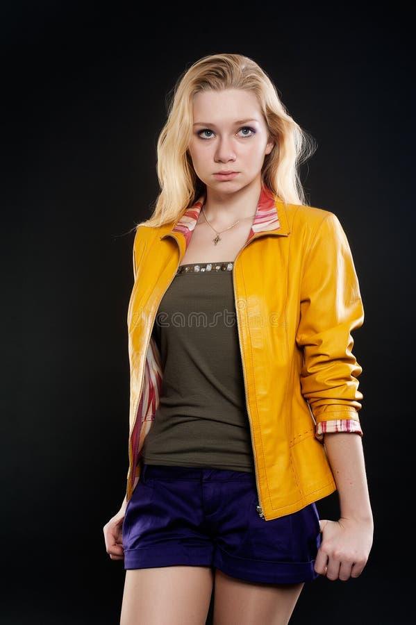 Portret smutna blondynki dziewczyna zdjęcia royalty free