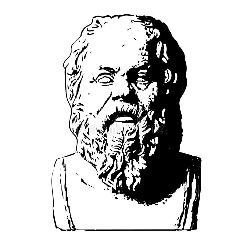 Portret Socrates royalty ilustracja
