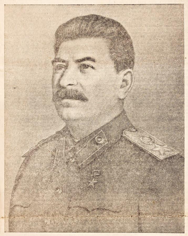 portret Stalin zdjęcia stock