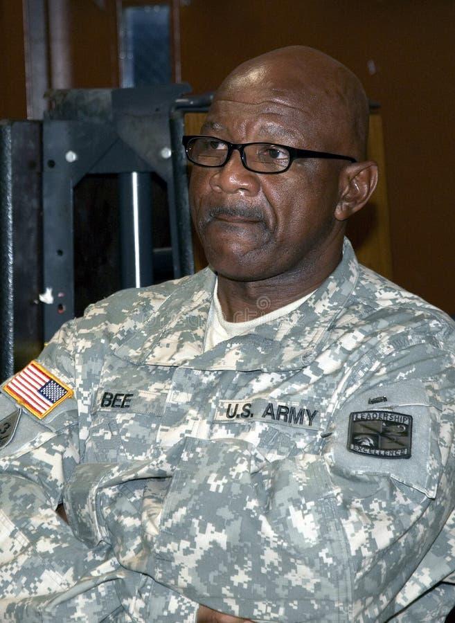 Portret Stany Zjednoczone wojska żołnierz zdjęcia stock