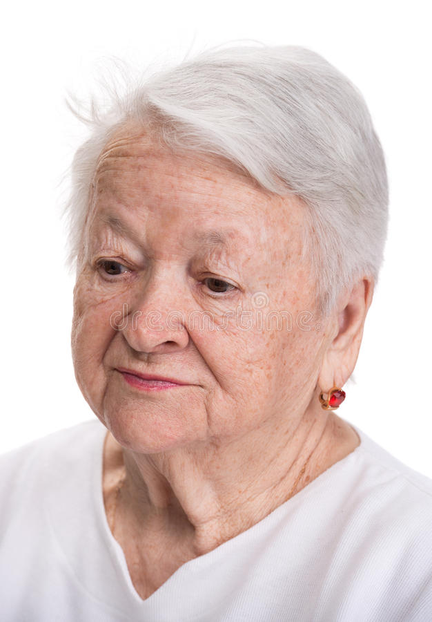 Portret stara kobieta zdjęcie stock