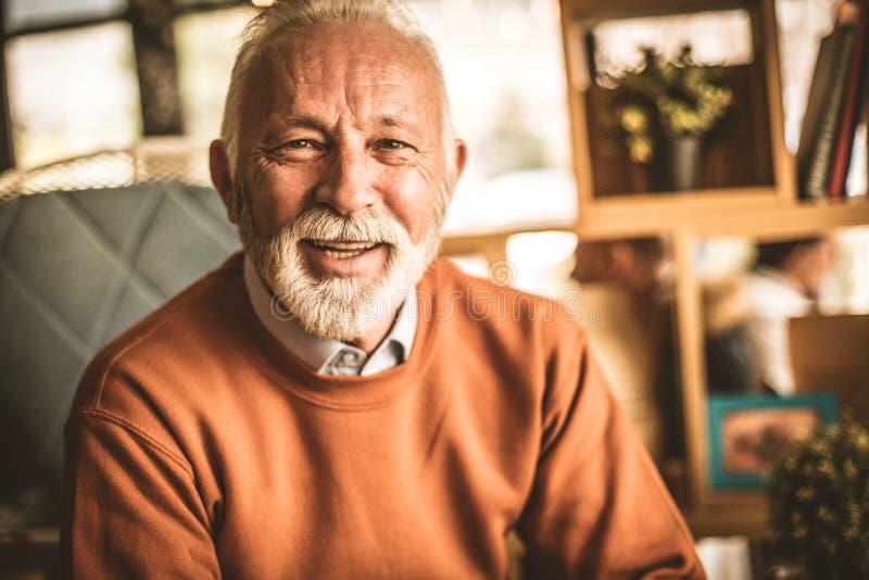Portret starsi biznesmeni uśmiecha się obraz royalty free