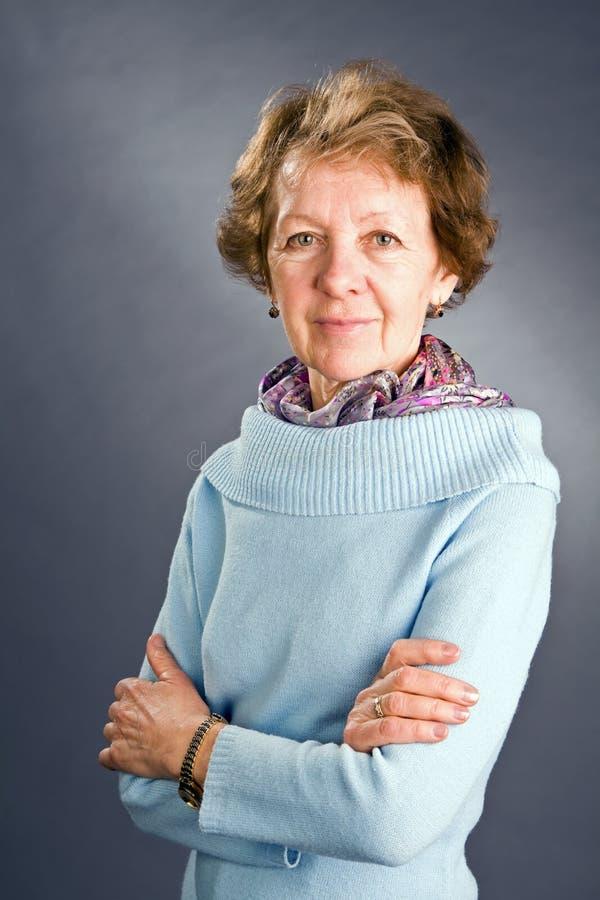 portret starsza kobieta fotografia stock