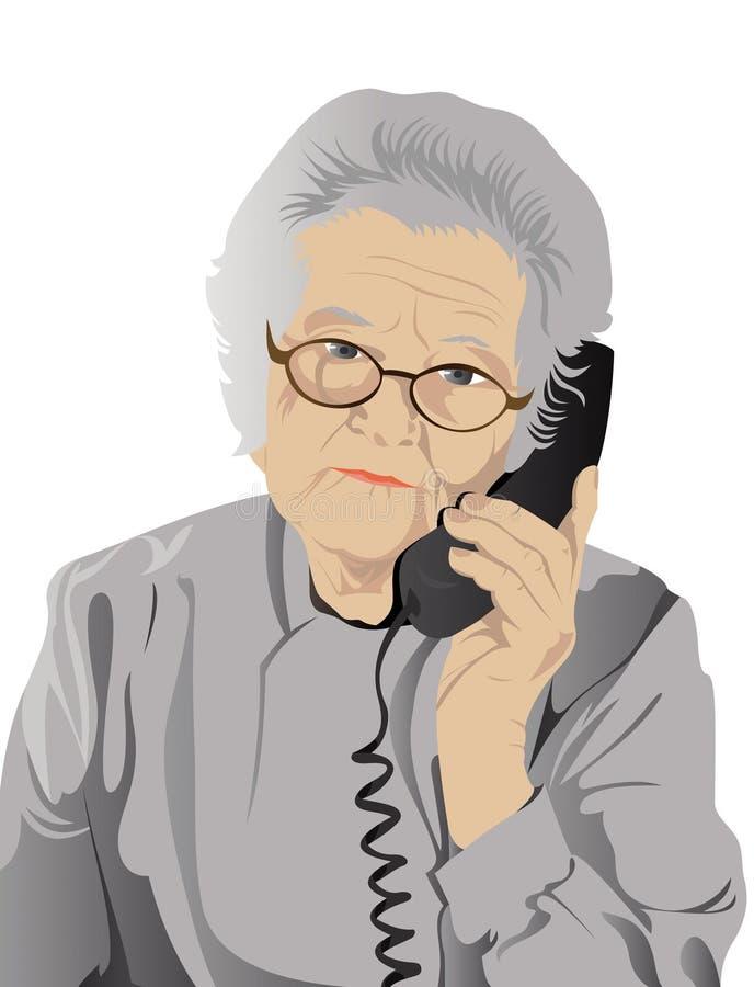 portret starsza kobieta ilustracji