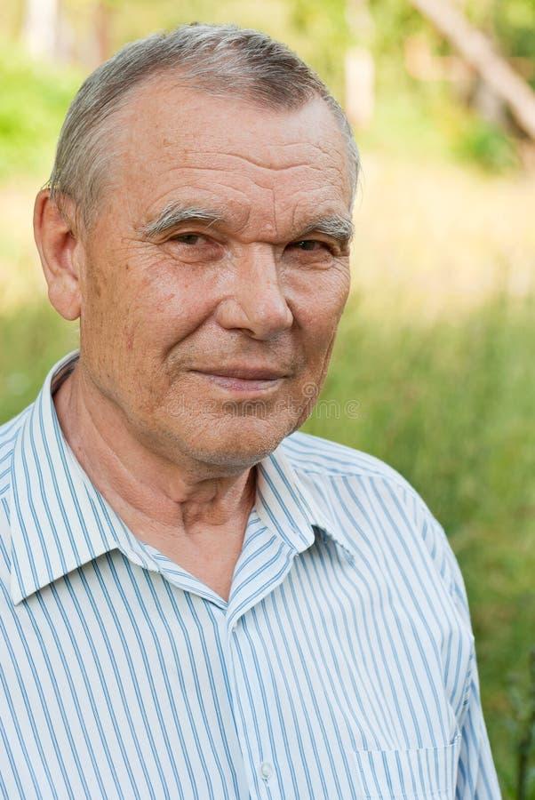 Portret starsza osoba mężczyzna obrazy royalty free