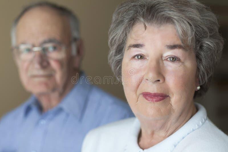 Portret starsza para zdjęcia stock